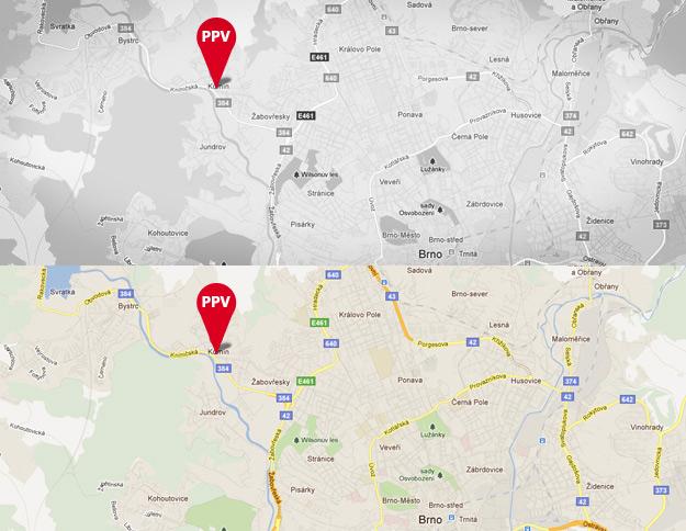 Adresa na mapě